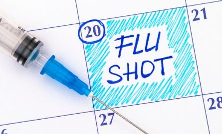 flu shot booked in calendar